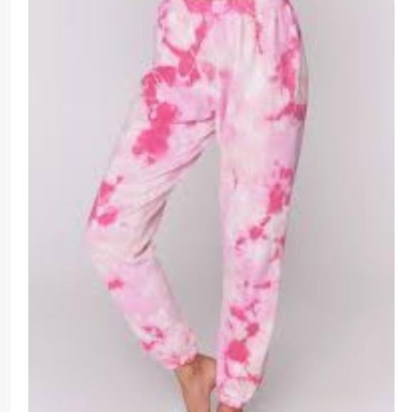 SG Azalea Pink Tie Dye Sessions Lounge Sweatpants